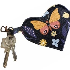 Pillangós �KITTI kulcs és aprótartó, táskadísz, Táska & Tok, Kulcstartó & Táskadísz, Varrás, Meska