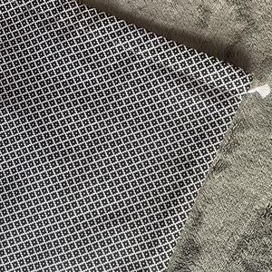Fekete fehér kenyeres zsák (30x45 cm) , Táska & Tok, Bevásárlás & Shopper táska, Kenyeres zsák, Varrás, A tasak egyik oldala pamutvászonból, míg a belső oldala pul anyagból készült, így frissen tartja, am..., Meska
