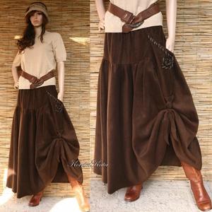 POLÁR SZOKNYA - lagenlook design szoknya LUCA  - ruha & divat - női ruha - szoknya - Meska.hu