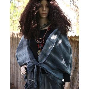 BATIK-LEPKE - géz-kabátka, Ruha & Divat, Női ruha, Bolero, Kézzel festett vastag rusztikus gézemből készült avantgard modellem. Extravagáns nadrágjaim, szoknyá..., Meska