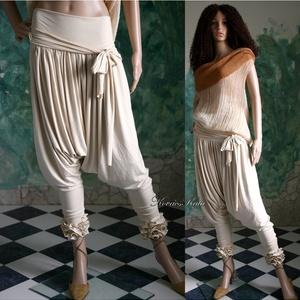 CSIBI - design-nadrág , Táska, Divat & Szépség, Női ruha, Ruha, divat, Kismamaruha, Nadrág, Varrás, EXTRAVAGÁNS NŐKNEK!\n\nA háremnadrágok stílusában készítettem ezt a vagány, viszkóz-jersey anyagú mode..., Meska