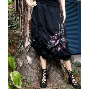 LUFI - rajzos taftszoknya - art to wear - lolita style fashion design (brokat) - Meska.hu