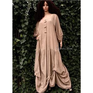 ESZTER - lagenlook design hosszú vászon ruha , Ruha & Divat, Női ruha, Ruha, Varrás, Festett tárgyak, Meska