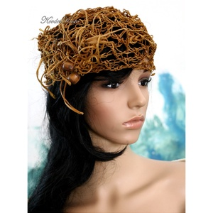BOHÉM rafia-kalap (brokat) - Meska.hu