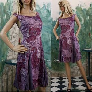 RETRO - jersey-ruha XXL, Táska, Divat & Szépség, Női ruha, Ruha, divat, Ruha, Originál - a '80-as évekből készült - anyagból terveztem ezt a modellt, stílusosan  korabeli szabásm..., Meska