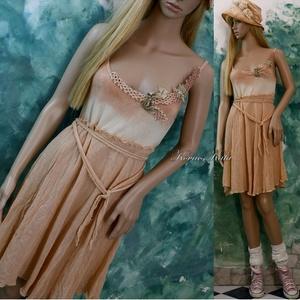 BÖBE-RUHA / barack ombre - shabby chic design ruha - Meska.hu