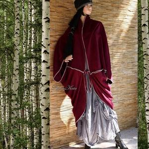 POLÁR PELERIN - mindennek a tetejére!, Táska, Divat & Szépség, Női ruha, Ruha, divat, Kabát, Poncsó, Varrás, Nagyméretű tunikáim, ruháim fölé terveztem ezt a lepke-szabású kabátpótló pelerint.\nAnyaga puha, pil..., Meska