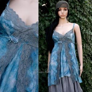 MISTIC TUNIC - romantikus jersey ruha, Ruha & Divat, Női ruha, Ruha, Varrás, Festett tárgyak, Meska