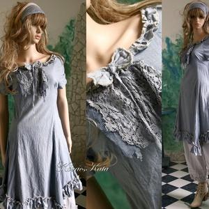 EMMY-BLUE - ruha - vintage style lolita fashion design (brokat) - Meska.hu