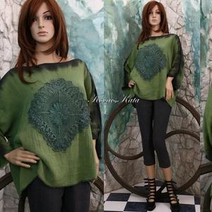 LARA géztunika - artsy lagenlook fashion design (brokat) - Meska.hu
