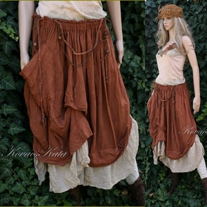 REGINA - bohém szoknya - lagenlook fashion design (brokat) - Meska.hu