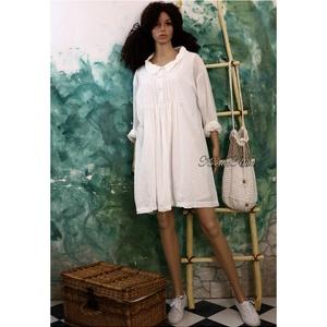 ANNIE - lagenlook dupla-ruha , Ruha & Divat, Női ruha, Ruha, Varrás, Muszlin-könnyedségű fehér pamutbatisztból  készült új modellemet korhatár nélkül hordhatod:\n\nTérdig-..., Meska