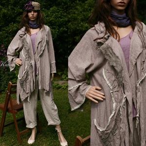 AVANTGARD lenkabát  -  lagenlook fashion design (brokat) - Meska.hu