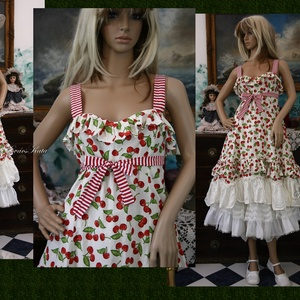 MICHELLE - cseresznyés ruha -  Lolita style Fashion Design (brokat) - Meska.hu