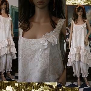 CSILLA - kétrészes ruha - lagenlook fashion design (brokat) - Meska.hu