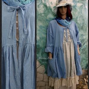 INGA - lagenlook babydoll vászon kabátka színekben...., Táska, Divat & Szépség, Női ruha, Ruha, divat, Kabát, Ruha, Varrás, Különböző színekben  készítem ezt a jól használható, baby-doll stílusú nyári kabátkát.\nA fotózott da..., Meska