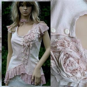 LENKE - art to wear design blúz - Meska.hu