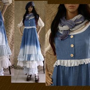 PATRICIA - romantikus lagenlook design-ruha (brokat) - Meska.hu
