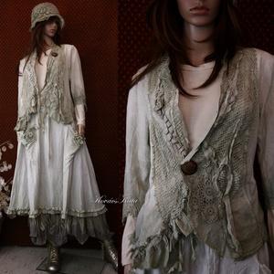 EMESE-szett - artsy lagenlook fashion design (brokat) - Meska.hu