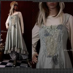 TAMURA - iparművész kötényruha XL , Ruha & Divat, Ruha, Női ruha, A művészi vintage stílus szerelmeseinek ajánlom e kollekcióm aprólékos munkával és sok-sok szeretett..., Meska