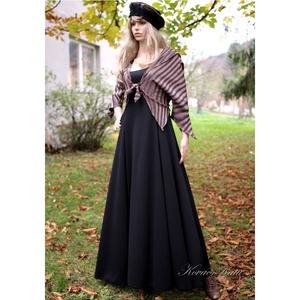 GERDA-szett = princessz-ruha boleróval, Táska, Divat & Szépség, Női ruha, Ruha, divat, Ruha, Varrás, Klasszikus szabású, díszítés-nélküli princessz-ruha szép esésű hollófekete középvastag jersey-ből.\nh..., Meska