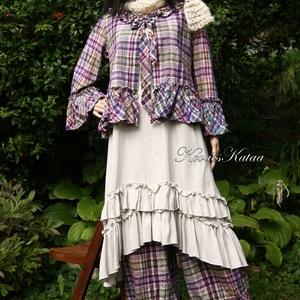 PATSY kabátka  - lagenlook fashion design (brokat) - Meska.hu