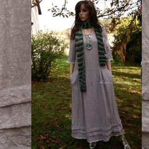 VICA -  lagenlook lenvászon ruha , Táska, Divat & Szépség, Női ruha, Ruha, divat, Ruha, Varrás, Különleges textúrájú, két színből szőtt lenvászonból készítettem ezt az extra hosszúságú  ruhámat.\n\n..., Meska
