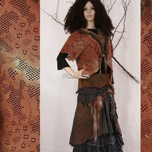 ŐSZIKE-szett = patchwork szoknya + csipkekabátka (brokat) - Meska.hu