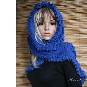 POLARILLA / királykék - fodros polár stóla, Stóla, Sál, Sapka, Kendő, Ruha & Divat, Varrás, Puha meleg polárból terveztem ezt a fodros-szegélyű, nyakra-főre tekerhető romantikus ruhadarabot.\nS..., Meska