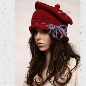 GYAPJÚ-CILINDER - horgolt design kalap (brokat) - Meska.hu