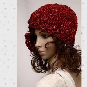 CLOCHE-ART - kézzel kötött bohém kalap (brokat) - Meska.hu