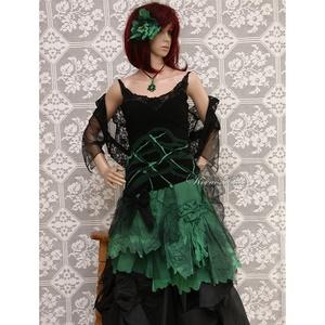 GRANADA - bohém selyemruha , Ruha & Divat, Női ruha, Ruha, Varrás, Extravagáns Nőknek!\nIntenzív zöld selyemből és vékony fekete selyem- jersey-ből készítettem ezt a ké..., Meska