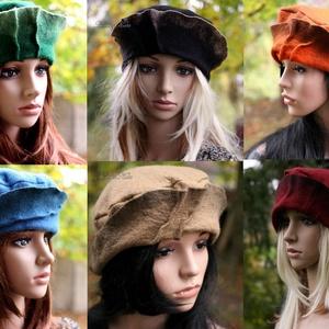 POLLY - kézműves filc kalap (brokat) - Meska.hu
