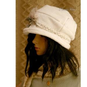 TÜNDÉRRÓZSA - design-kalap L (brokat) - Meska.hu