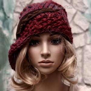 CLOCHE-ART kötött kalap, sapka, Ruha & Divat, Sál, Sapka, Kendő, Kalap, VASTAG, puha, többszálas prémium-minőségű, színátmenetes fonal-mixből kötött modellem a '20-as évek ..., Meska
