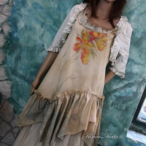 ORCHIDEA KISASSZONY - art to wear szett (brokat) - Meska.hu