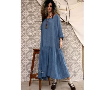RHODA - flapper-ruha, Táska, Divat & Szépség, Női ruha, Ruha, divat, Ruha, Varrás, Festett tárgyak, A romantikus lagenlook kedvelőinek:\n\nA modell az 1920-as évek flapper-ruhái ihlette könnyű pamutvász..., Meska