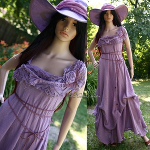 """LAGUNA  - romantikus design-ruha , Alkalmi ruha & Estélyi ruha, Női ruha, Ruha & Divat, Varrás, Festett tárgyak, Művészi-megjelenésű modellemben  hercegnőnek érezheted magad! \n\n\""""Laguna\""""- ruháimat különböző színekb..., Meska"""