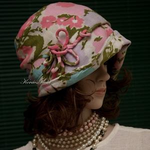 """MALINKA  cloche - retro-len flapper kalap, Táska, Divat & Szépség, Női ruha, Ruha, divat, Sál, sapka, kesztyű, Sapka, Varrás, Újrahasznosított alapanyagból készült termékek, Az 1920-as évek divatja köszön vissza \""""Malinka\"""" fantázianevű romantikus design-kalapjaimon.\n\nEz a kü..., Meska"""