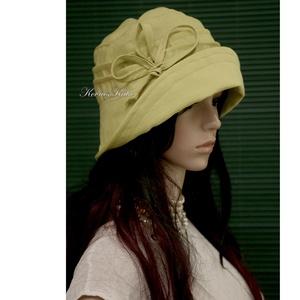 GINA- lenvászon design-kalap  (brokat) - Meska.hu