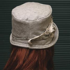 MARIE cloche - pamut-jersey flapper kalap (brokat) - Meska.hu