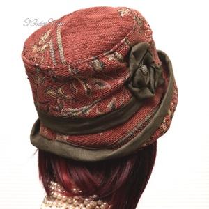 MARA cloche -  őszi flapper kalap (brokat) - Meska.hu