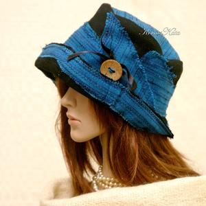 FANNI cloche - patchwork design kalap, Kalap, Sál, Sapka, Kendő, Ruha & Divat, Varrás, Patchwork, foltvarrás, Különleges kalapom harang-szabása az 1920-as évek flapper divatját idézi.\nEz a forma szinte minden N..., Meska