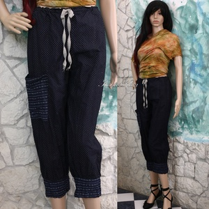 KÉKFESTŐ nadrág - lagenlook fashion design (brokat) - Meska.hu