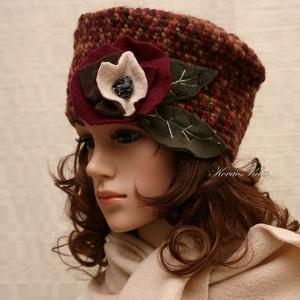 """TEKLA / ŐSZ - exkluzív horgolt kalap, Ruha & Divat, Sál, Sapka, Kendő, Kalap, Horgolás, Varrás, Prémium minőségű, ősz színekre \""""printelt\"""", puha, szúrás-mentes gyapjúfonalból  született ez az ujjny..., Meska"""