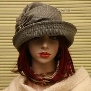 ERNA cloche - selyem-szövet flapper kalap (brokat) - Meska.hu