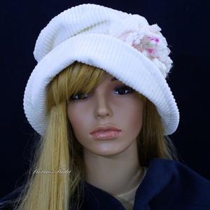 ANDERSEN - fehér kord design-kalap (brokat) - Meska.hu
