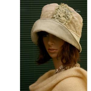 ZSELYKE cloche - romantikus design kalap - Meska.hu