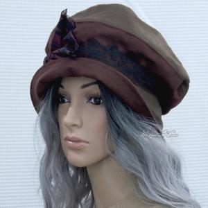 BERTA / selymes - design kalap  (brokat) - Meska.hu