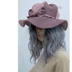 KEIRA - bohém-romantikus design kalap - Meska.hu